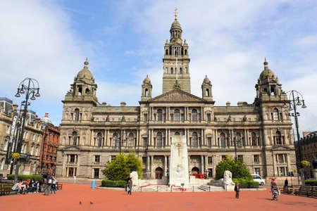animal figurines: City Hall of Glasgow Editorial