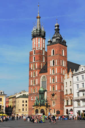 southern poland old building: Krakow St  Mary
