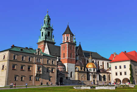 southern poland old building: Cathedral of Krakow Editorial