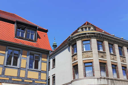 timbered: Timbered and stucco Stock Photo