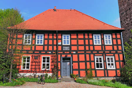 heritage protection: Old half-timbered house