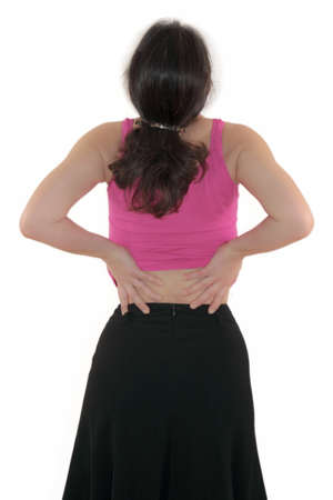 cramping: Back Problems Stock Photo