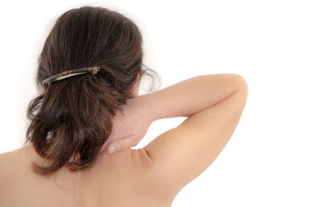 cramping:   woman have neck pain