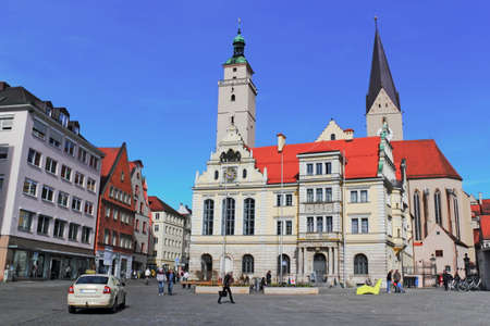 bayern old town: Ingolstadt town hall square