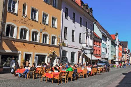 urban idyll: Spring in Fussen Town Editorial
