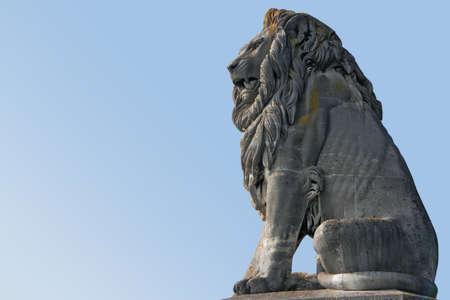 animal figurines: Bavarian Lion statue Stock Photo