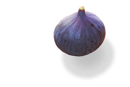 bowel movement: fig isolated on white  Stock Photo