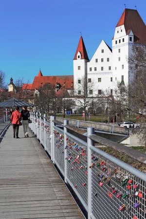 love proof: New Castle and Danube bridge