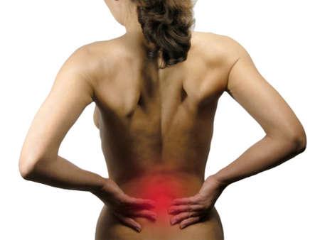 lumbago: Back Pain Stock Photo