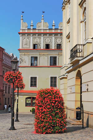 town idyll: Lublin Old Town Hall Stock Photo