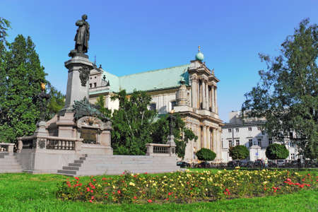 national poet: Mickiewicz Monument and Church of the Carmelites