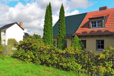 brandenburg home ownership: Houses Stock Photo