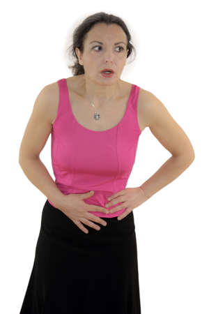 colonoscopy: Stomach Pain Stock Photo
