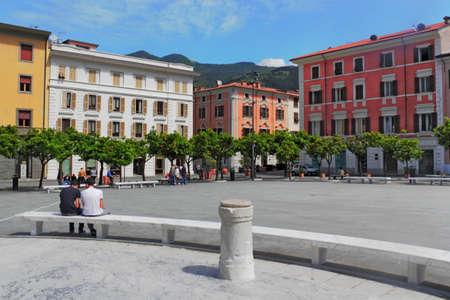 massa: Massa Piazza degli Aranci Stock Photo