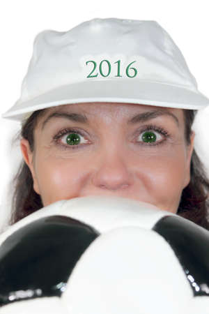 frenchwoman: Football fever 2016 Stock Photo