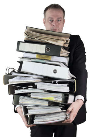 nudes: Wear mountain of files Stock Photo