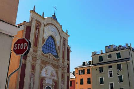 stucco facade: Baroque church in Genoa