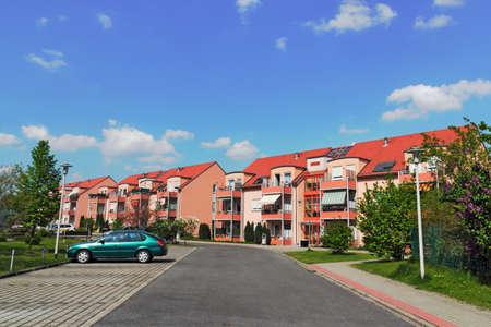 residential idyll: Lauchhammer urbanization Stock Photo