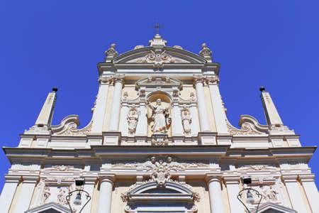 stucco facade: San Giacomo di Corte Archivio Fotografico