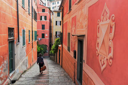 small town life: Alley in Camogli