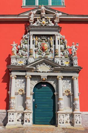 stucco facade: Juleum Novum Portal Stock Photo