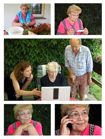 great grandmother: active Senior