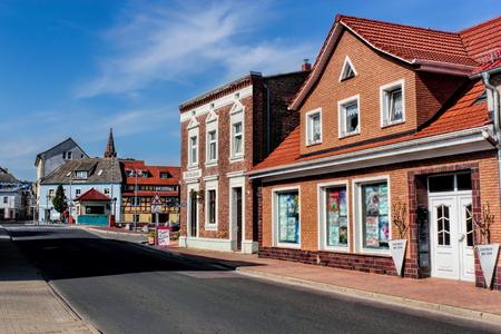 residential idyll: Ueckermuende Stock Photo