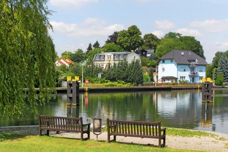 residential idyll: Woltersdorfer lock