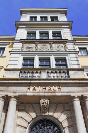 stucco facade: City Hall in Ingolstadt Stock Photo