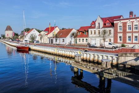 residential idyll: Pomeranian port Stock Photo