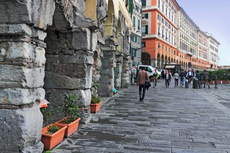 house series: Genoa arcades Stock Photo