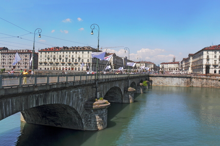 town idyll: Turin on Po Editorial