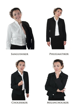 personality: Los cuatro tipos de personalidad Foto de archivo