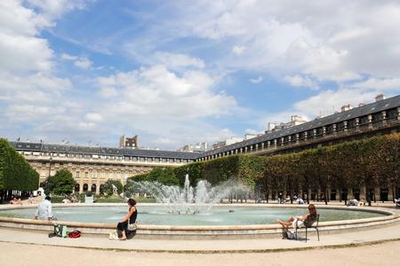 lull: Fountain at the Palais Royal Stock Photo