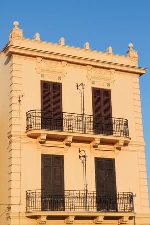 stucco facade: Residential palace in the evening light Editorial