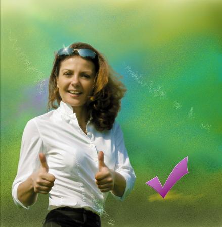 consent: Businesswoman consent Stock Photo