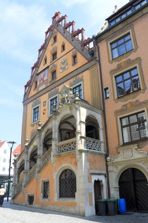 renovate old building facade: City Hall of Ulm