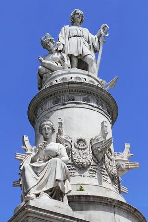 descubridor: monumento a Col�n Foto de archivo