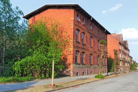residential idyll: Falkenberg Elster Stock Photo