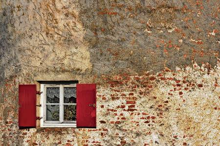 living idyll: Wall with window