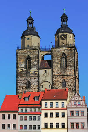 gabled house: Luther City Wittenberg Stock Photo