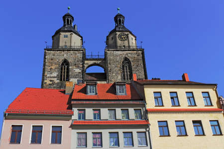 living idyll: Luther City Wittenberg Stock Photo