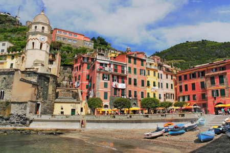 vernazza: Harbor  in Vernazza Stock Photo