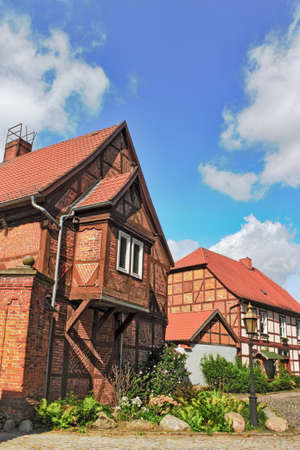 residential idyll: Brick and half-timbered