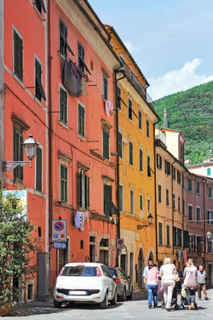 small town life: Carrara Stock Photo