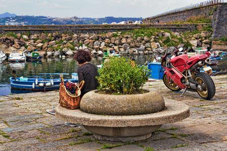 old port: Pozzuoli Old Port Stock Photo