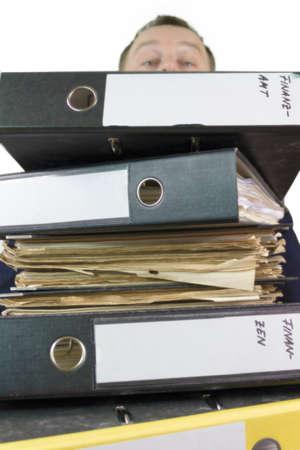 authorities: mountain of files