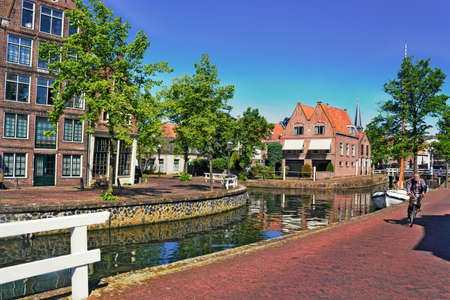 hoorn: Channel in Hoorn Stock Photo