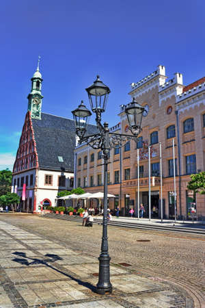 gabled house: Town Hall and the Gewandhaus