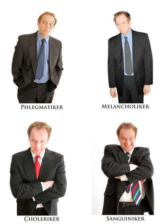 phlegmatic: The four personality types Stock Photo
